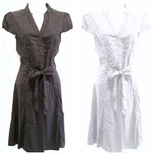 BOTH for $39! Tie Front Cap Sleeve Shirt Dresses!!